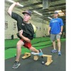 Indoor pitching instruction at Jim Wagner's ThrowZone Academy